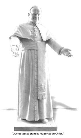 Statue de Saint Jean-Paul II...